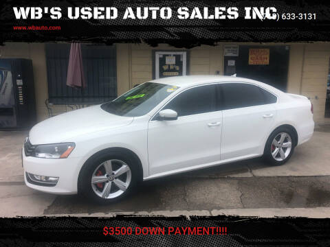 2015 Volkswagen Passat for sale at WB'S USED AUTO SALES INC in Houston TX