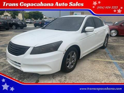 2012 Honda Accord for sale at Trans Copacabana Auto Sales in Hollywood FL