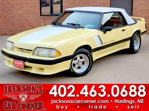 1989 Ford Mustang for sale at Jacksons Car Corner Inc in Hastings NE