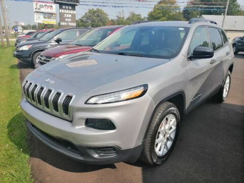 2016 Jeep Cherokee for sale at KRIS RADIO QUALITY KARS INC in Mansfield OH