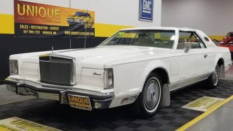 1979 Lincoln Continental for sale at UNIQUE SPECIALTY & CLASSICS in Mankato MN