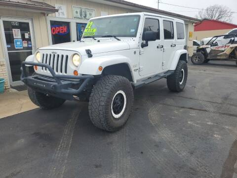 2012 Jeep Wrangler Unlimited for sale at Bailey Family Auto Sales in Lincoln AR