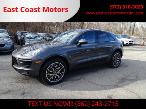 2016 Porsche Macan for sale at East Coast Motors in Lake Hopatcong NJ