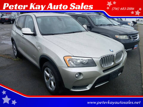 2012 BMW X3 for sale at Peter Kay Auto Sales in Alden NY