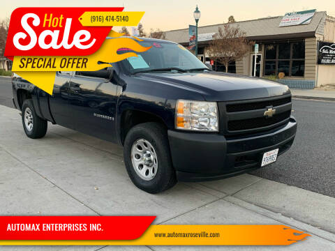 2008 Chevrolet Silverado 1500 for sale at AUTOMAX ENTERPRISES INC. in Roseville CA