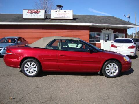 2002 Chrysler Sebring for sale at G and G AUTO SALES in Merrill WI