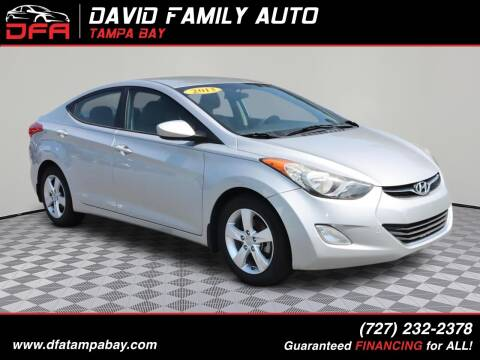 2013 Hyundai Elantra for sale at David Family Auto in New Port Richey FL