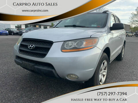 2009 Hyundai Santa Fe for sale at Carpro Auto Sales in Chesapeake VA