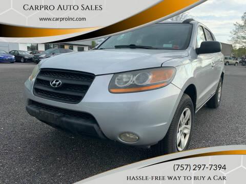 2009 Hyundai Santa Fe for sale at Carpro Auto Sales in Chesapeake VA