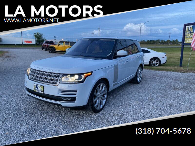 2016 Land Rover Range Rover for sale at LA MOTORS in Alexandria LA
