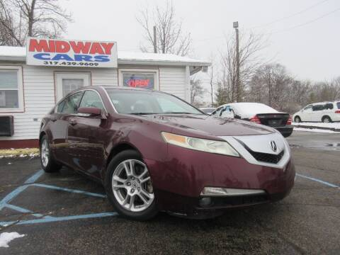 2010 Acura TL for sale at Midway Cars LLC in Indianapolis IN