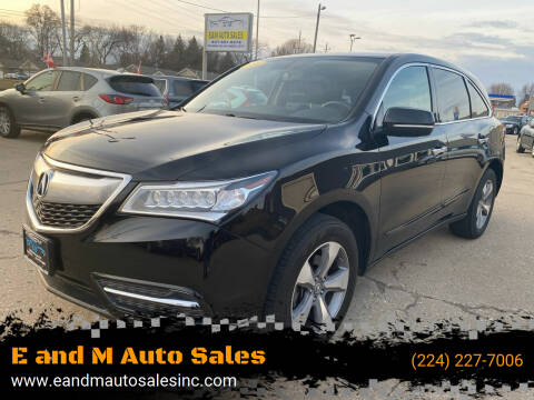 2014 Acura MDX for sale at E and M Auto Sales in East Dundee IL