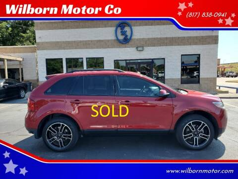 2013 Ford Edge for sale at Wilborn Motor Co in Fort Worth TX