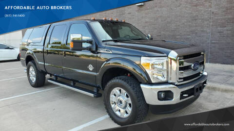 2015 Ford F-250 Super Duty for sale at AFFORDABLE AUTO BROKERS in Keller TX