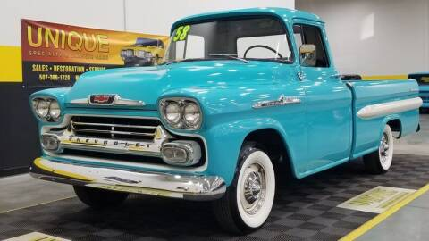 1958 Chevrolet Apache for sale at UNIQUE SPECIALTY & CLASSICS in Mankato MN