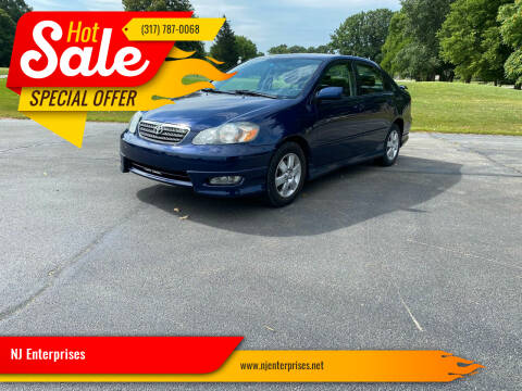 2007 Toyota Corolla for sale at NJ Enterprises in Indianapolis IN
