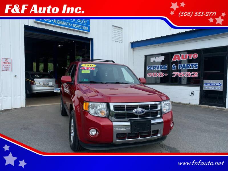 2011 Ford Escape for sale at F&F Auto Inc. in West Bridgewater MA