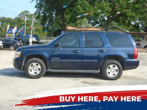 2007 Chevrolet Tahoe for sale at J & F AUTO SALES in Houston TX