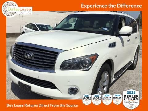 2014 Infiniti QX80 for sale at Dallas Auto Finance in Dallas TX