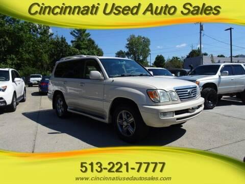 2007 Lexus LX 470 for sale at Cincinnati Used Auto Sales in Cincinnati OH