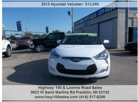 2013 Hyundai Veloster for sale at Highway 100 & Loomis Road Sales in Franklin WI