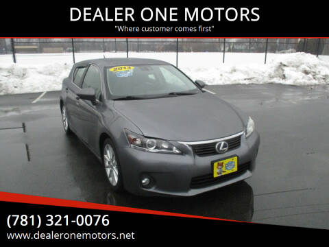 2013 Lexus CT 200h for sale at DEALER ONE MOTORS in Malden MA