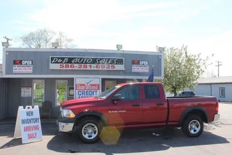 2011 RAM Ram Pickup 1500 for sale at D & B Auto Sales LLC in Washington Township MI