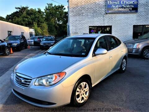 2010 Hyundai Elantra for sale at Best Choice Auto Sales in Virginia Beach VA
