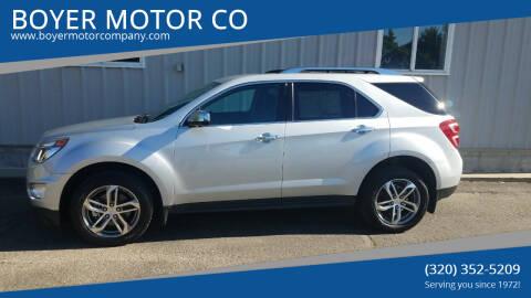 2016 Chevrolet Equinox for sale at BOYER MOTOR CO in Sauk Centre MN