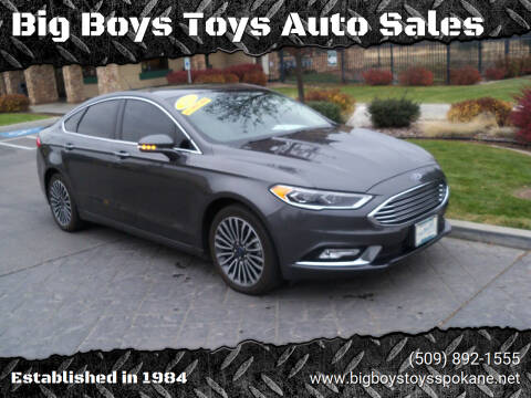 2018 Ford Fusion for sale at Big Boys Toys Auto Sales in Spokane Valley WA
