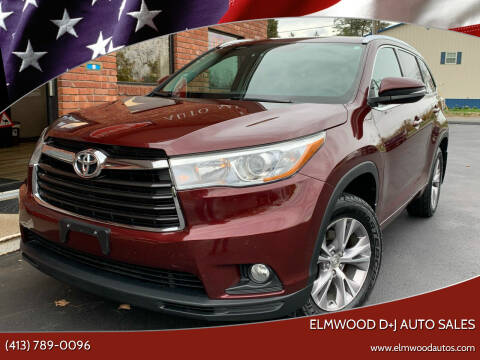 2015 Toyota Highlander for sale at Elmwood D+J Auto Sales in Agawam MA