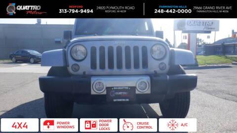 2014 Jeep Wrangler Unlimited for sale at Quattro Motors 2 - 1 in Redford MI