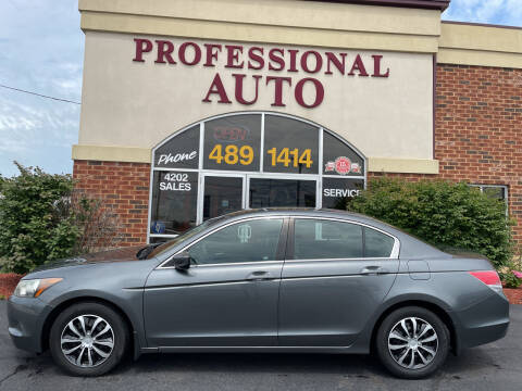 2010 Honda Accord for sale at Professional Auto Sales & Service in Fort Wayne IN