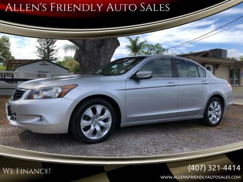 2008 Honda Accord for sale at Allen's Friendly Auto Sales in Sanford FL