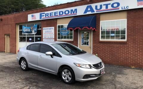 2015 Honda Civic for sale at FREEDOM AUTO LLC in Wilkesboro NC