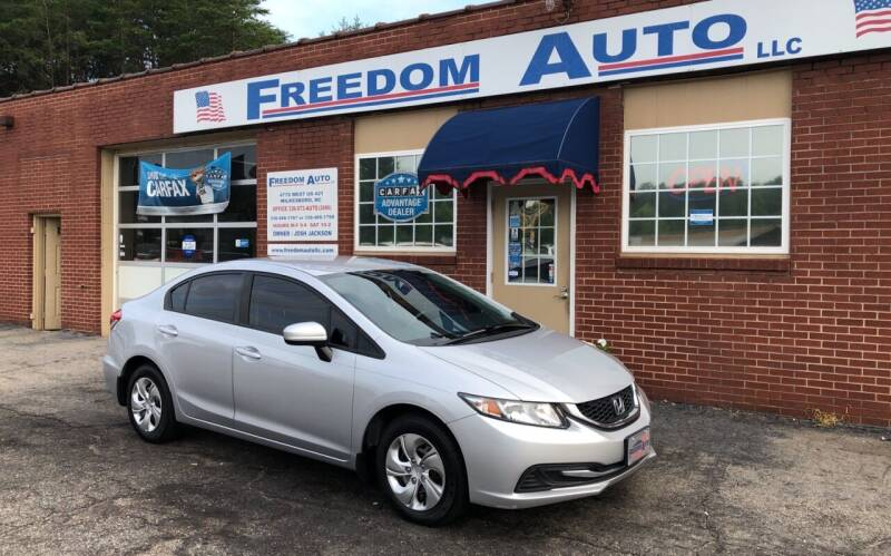 2015 Honda Civic for sale at FREEDOM AUTO LLC in Wilkesboro NC