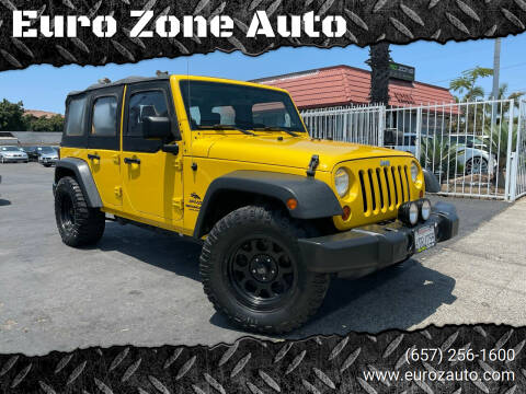 2008 Jeep Wrangler Unlimited for sale at Euro Zone Auto in Stanton CA