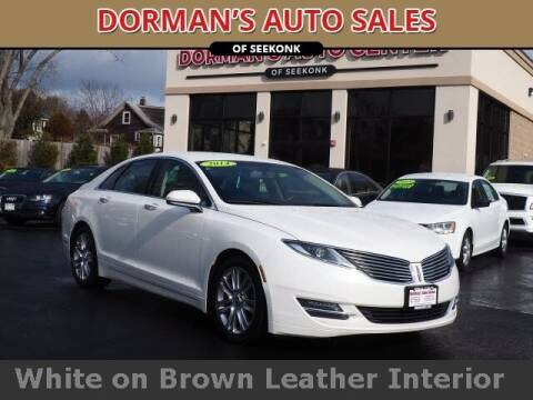 2014 Lincoln MKZ for sale at DORMANS AUTO CENTER OF SEEKONK in Seekonk MA
