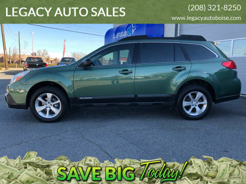 2014 Subaru Outback for sale at LEGACY AUTO SALES in Boise ID