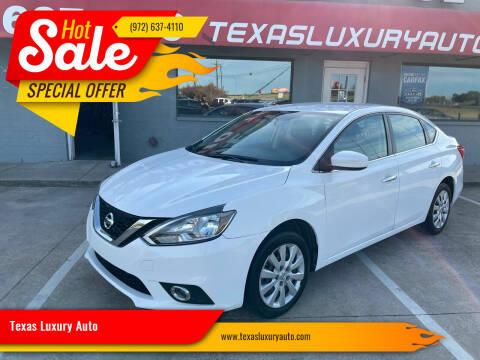 2016 Nissan Sentra for sale at Texas Luxury Auto in Cedar Hill TX