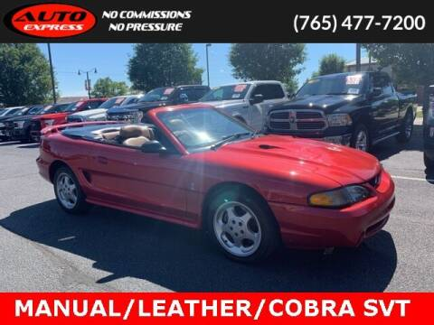 1996 Ford Mustang SVT Cobra for sale at Auto Express in Lafayette IN