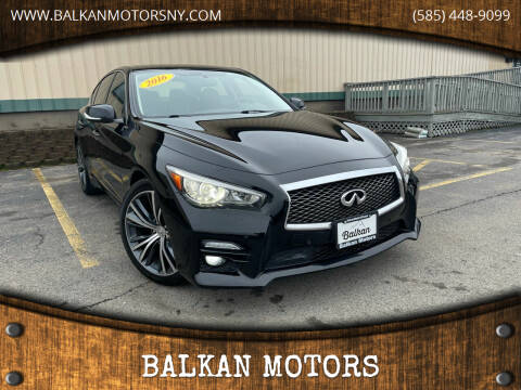 2016 Infiniti Q50 for sale at BALKAN MOTORS in East Rochester NY