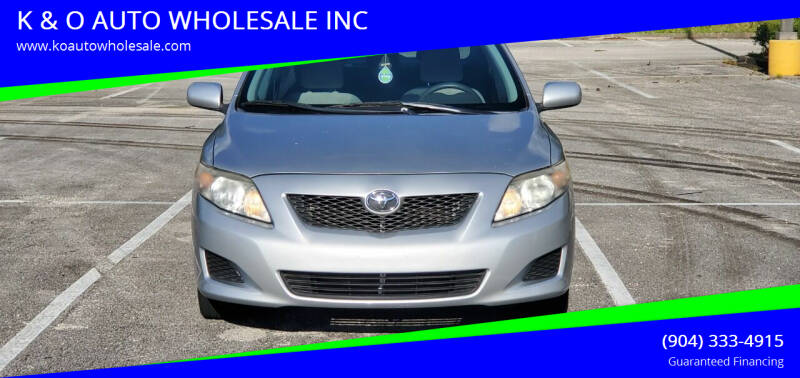 2009 Toyota Corolla for sale at K & O AUTO WHOLESALE INC in Jacksonville FL