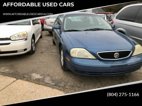 2002 Mercury Sable for sale at AFFORDABLE USED CARS in Richmond VA