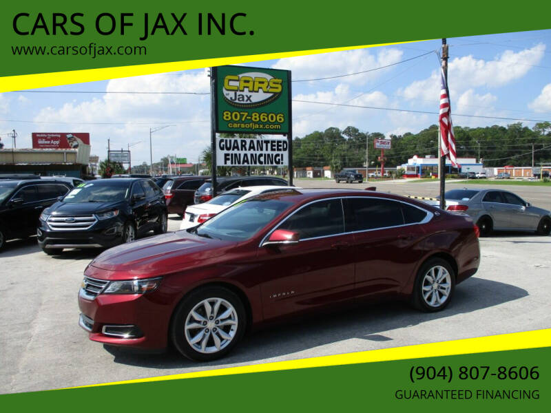 2017 Chevrolet Impala for sale at CARS OF JAX INC. in Jacksonville FL