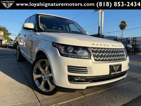 2017 Land Rover Range Rover for sale at Loyal Signature Motors Inc. in Van Nuys CA