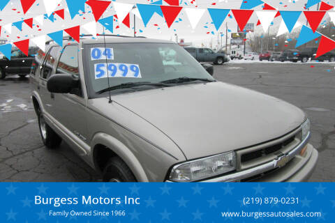 2004 Chevrolet Blazer for sale at Burgess Motors Inc in Michigan City IN
