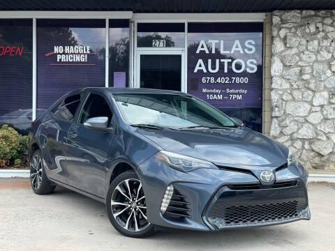 2017 Toyota Corolla for sale at ATLAS AUTOS in Marietta GA