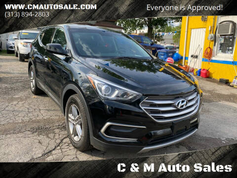 2017 Hyundai Santa Fe Sport for sale at C & M Auto Sales in Detroit MI