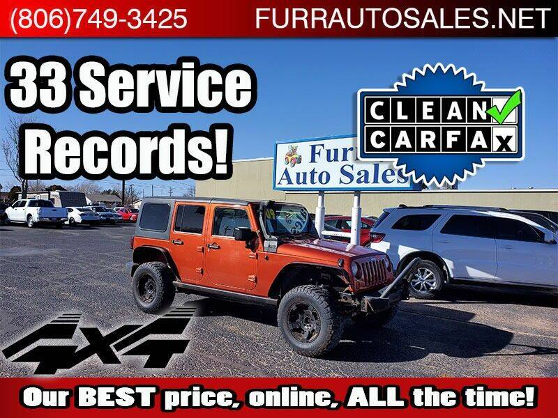2009 Jeep Wrangler Unlimited for sale at FURR AUTO SALES in Lubbock TX